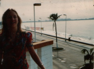 Me on the Mazatlan Motel Balcony