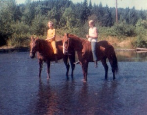 Me & Mary Lou on our horses